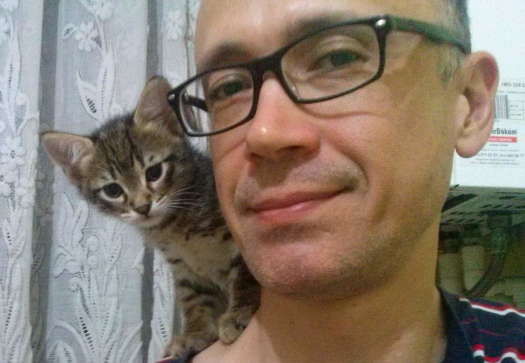 May 14, 2015 - male tabby and me