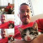 Mare the kitten with his new family 03
