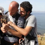 Two Syrian Refugees brought their cats to safety in Greece